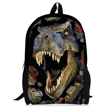3D Dinosaur Print School Backpack