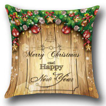 Merry Christmas Decorations Patterned Throw Pillow Case - COLORFUL W18 INCH * L18 INCH