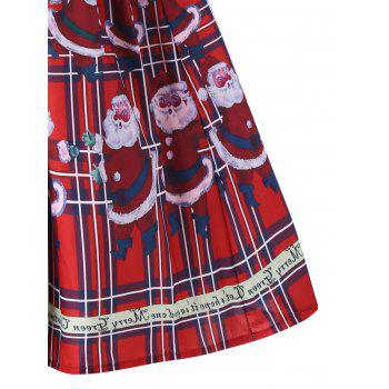 Christmas Santa Claus Sheer Swing Dress - RED M