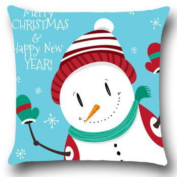 Snowman Merry Christmas Happy New Year Pillowcase - COLORFUL W12 INCH * L20 INCH