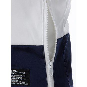 Zip Up Braid - Veste légère embellie - Blanc 2XL