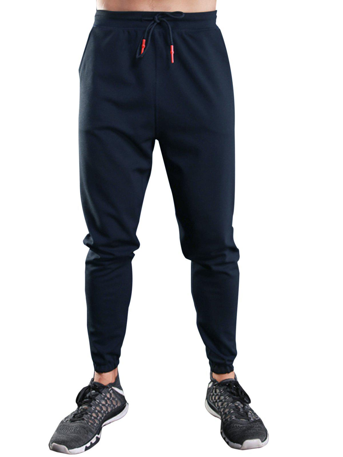 Drawstring Casual Sports Jogger Pantalons - Royal M