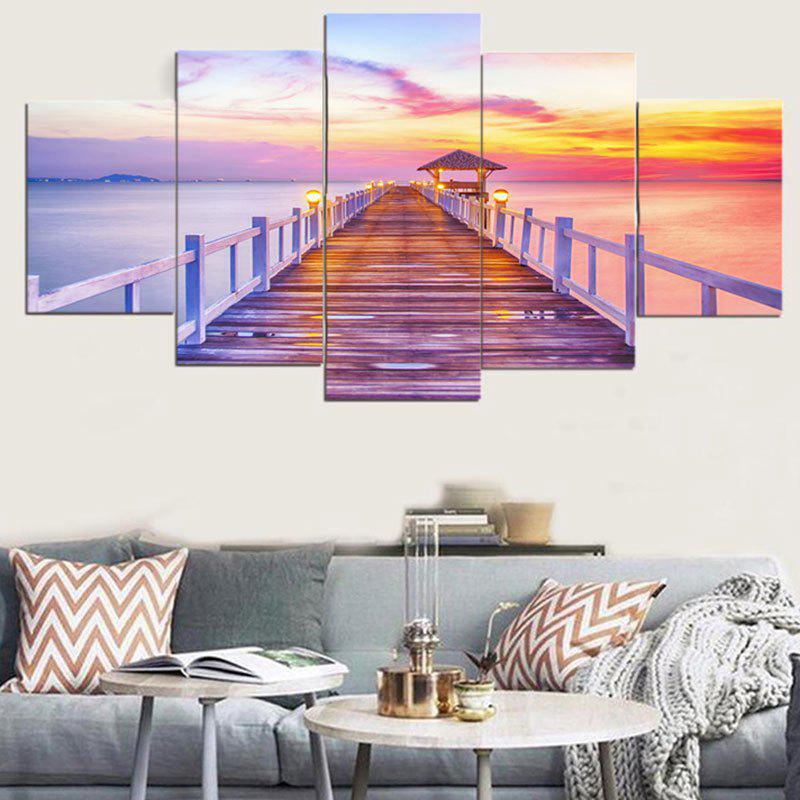 2018 wall art rosy clouds bridge peintures d 39 impression color pc pcs pcs pouces pas de. Black Bedroom Furniture Sets. Home Design Ideas