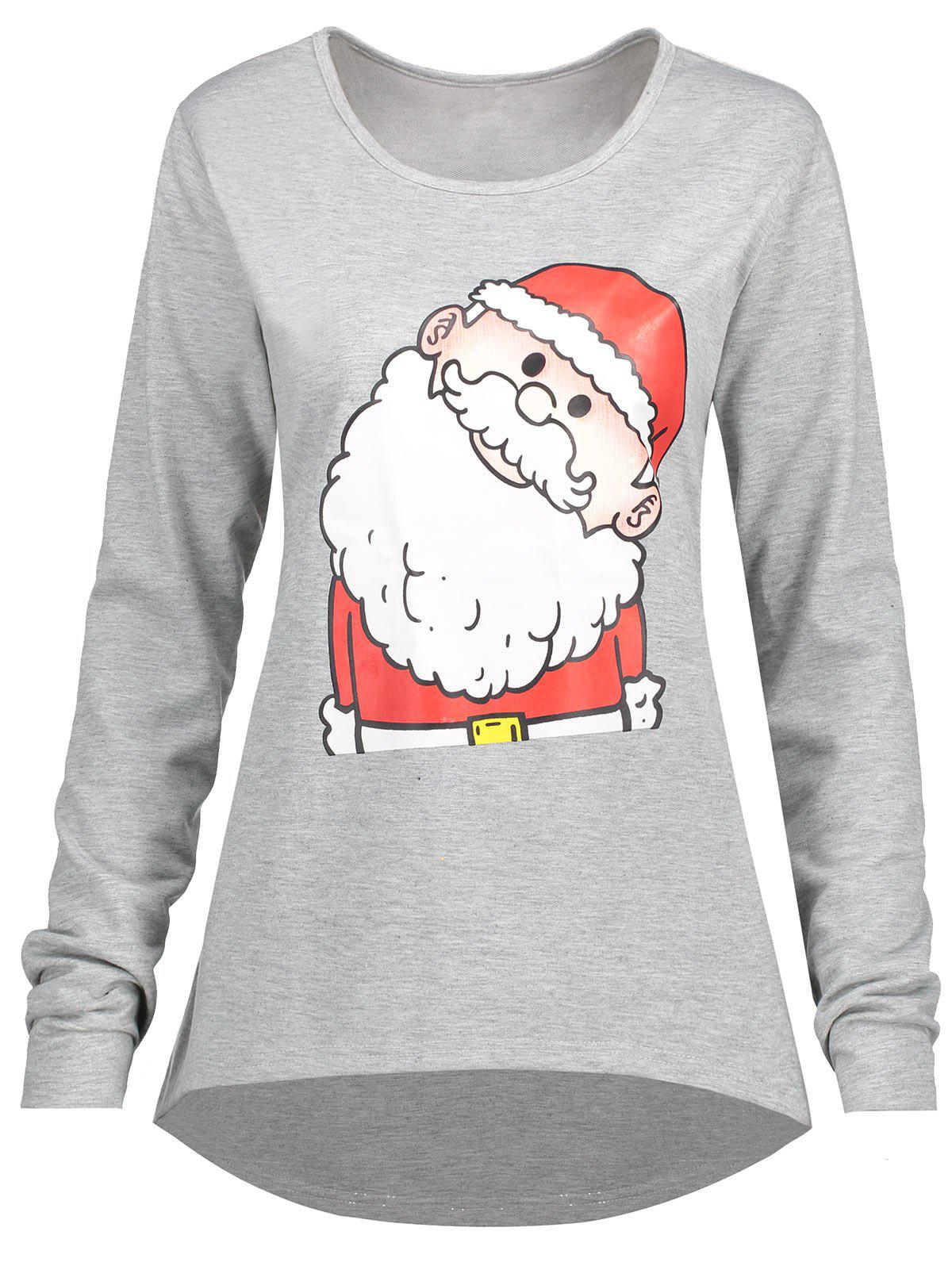 Christmas Santa Claus High Low Plus Size T-shirt inflatable cartoon customized advertising giant christmas inflatable santa claus for christmas outdoor decoration