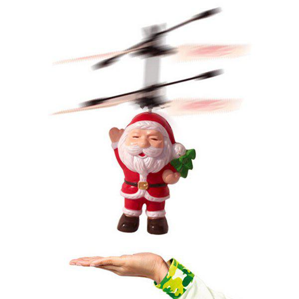 Santa Claus Electric Infrared Sensor LED Light Aircraft Toy