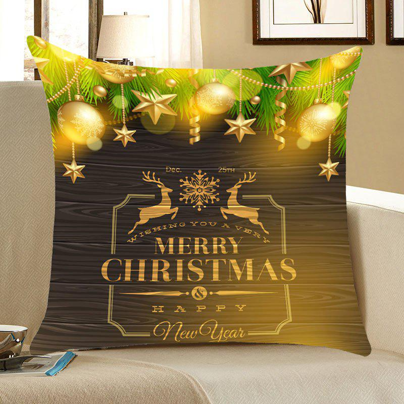 Christmas Elks Decorations Patterned Throw Pillow Case merry christmas grass cushion throw pillow case