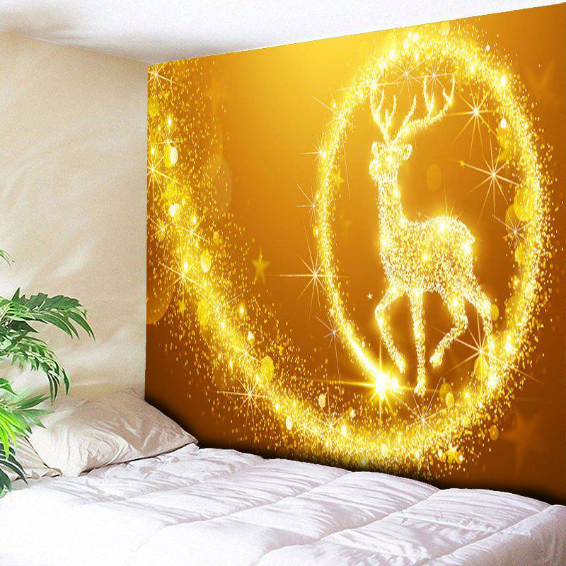 2018 Christmas Wall Hanging Elk Pattern Decorative Tapestry GOLDEN W ...