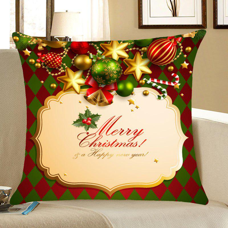 Merry Christmas Bells Printed Linen Pillow Case handpainted pineapple and fern printed pillow case