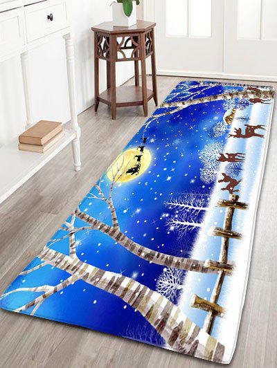 Nonslip Flannel Christmas Snowscape Print Bath Rug цена 2017