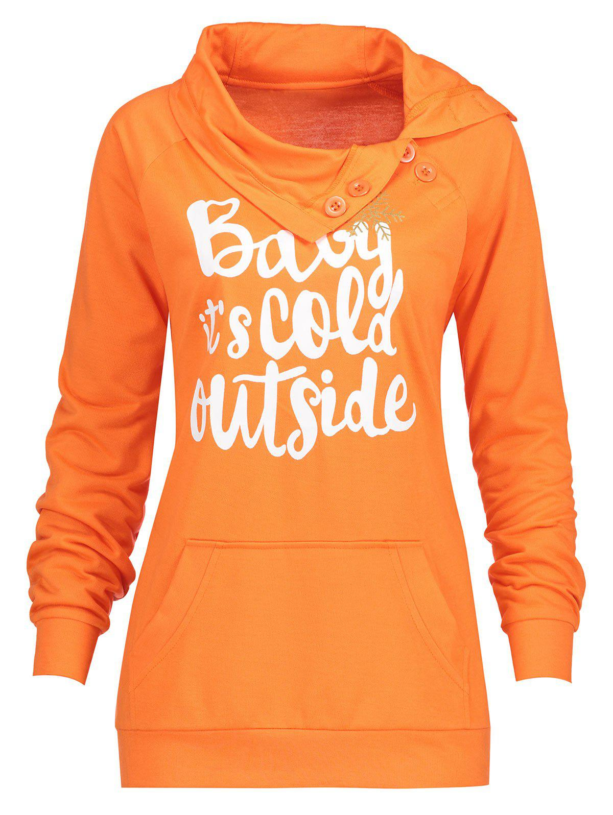 Christmas Snowflake Letter Print Plus Size Sweatshirt plus size hooded letter print pocketed sweatshirt dress