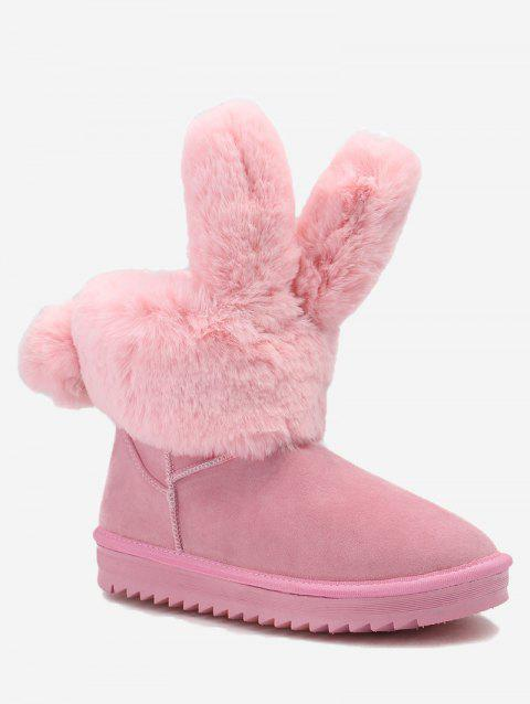 Rabbit Ear Ankle Snow Boots - PINK 37