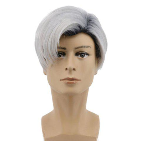Short Side Parting Straight Colormix Descendants 2 Carlos Cosplay Wig - FROST
