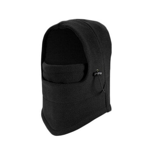 Outdoor Windproof Cycling Hat with Face Mask - BLACK