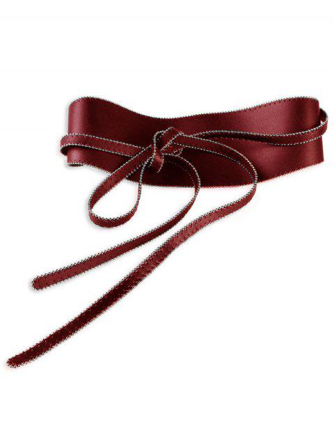 Retro Rivet Brim Knot Strap Decorated High Waist Belt - RED
