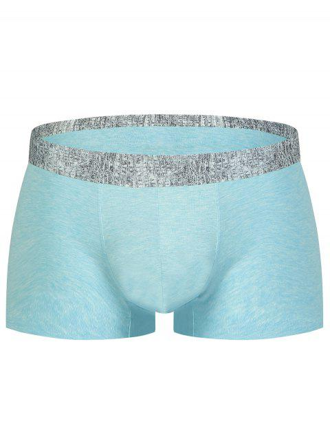 Alligator Print U Convex Pouch Boxer Brief - LIGHT BLUE XL