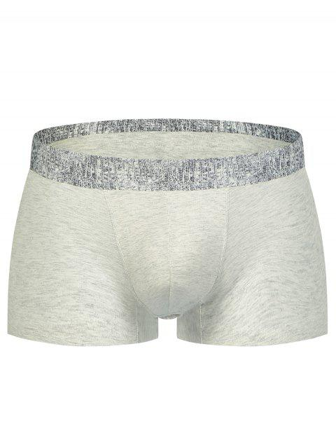 Alligator Print U Convex Pouch Boxer Brief - LIGHT GRAY L