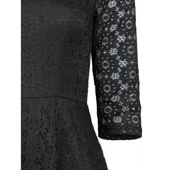 Lace Crochet High Low Midi A Line Dress - XL XL