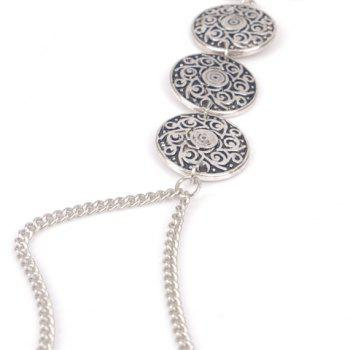 Embossed Round Arm Chain - SILVER