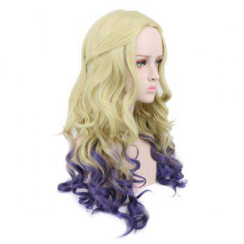 Middle Part Long Wavy Ombre Synthetic Descendants 2 Mal Cosplay Wig - COLORMIX