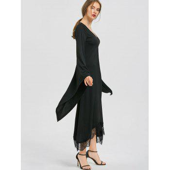 Halloween V Neck Flare Sleeve Longline Dress - 2XL 2XL