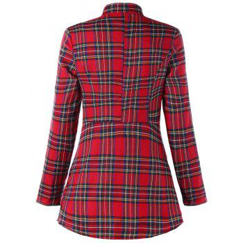 Christmas Plaid Double Breasted Coat - CHECKED M