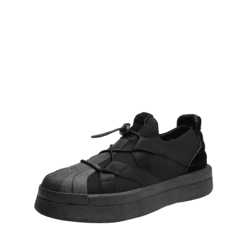 Platform Shell Toe Sports Skate Shoes - BLACK 42