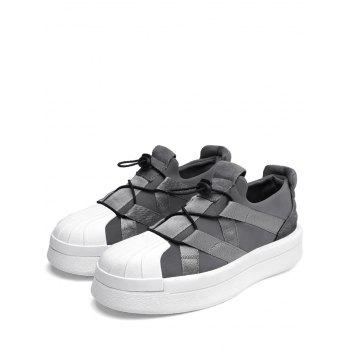 Platform Shell Toe Sports Skate Shoes - GRAY 43