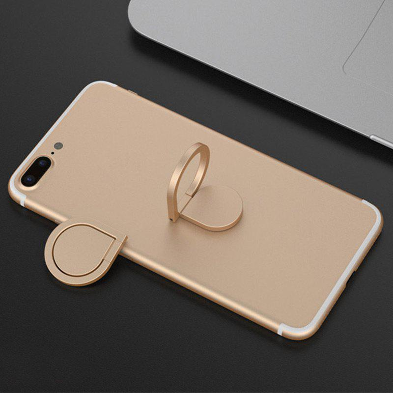 Water Drop Shape Magnetic Rotatable Phone Ring Holder - GOLDEN