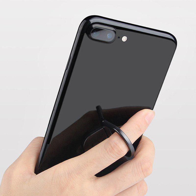 Water Drop Shape Magnetic Rotatable Phone Ring Holder - BLACK