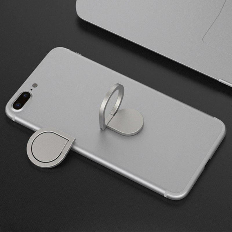 Water Drop Shape Magnetic Rotatable Phone Ring Holder - SILVER