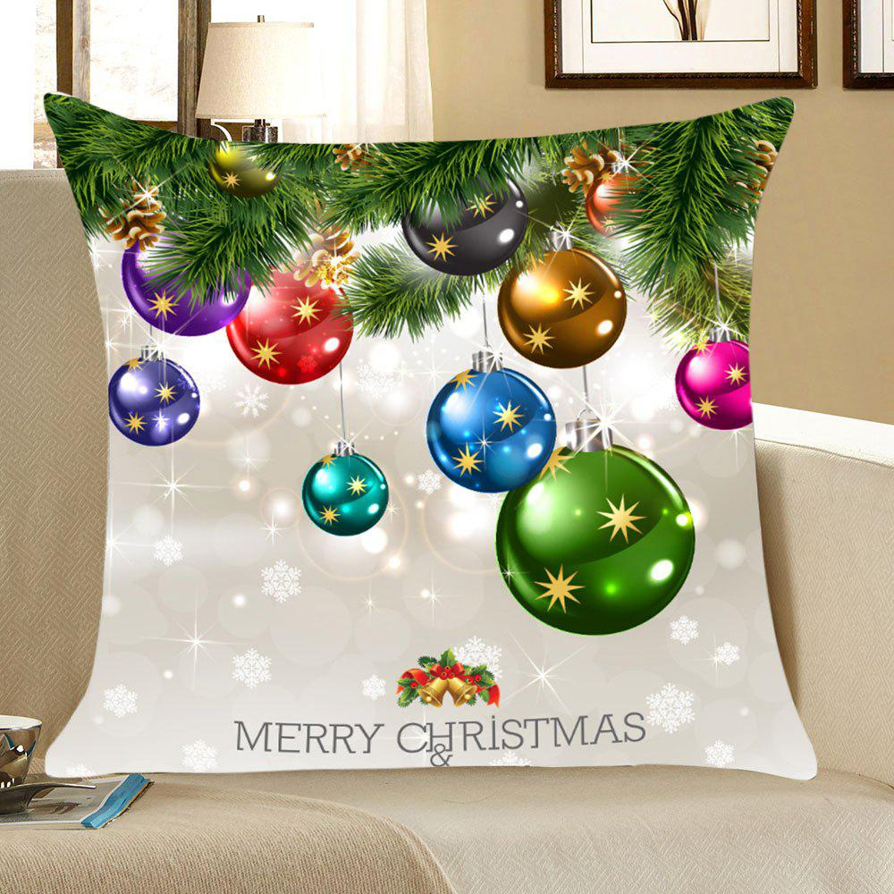 Christmas Colorful Balls Print Throw Pillow Case - COLORFUL W18 INCH * L18 INCH