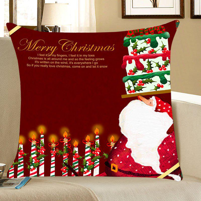 Santa Claus Cake And Candles Pattern Throw Pillow Case santa claus deer cushion throw pillow case
