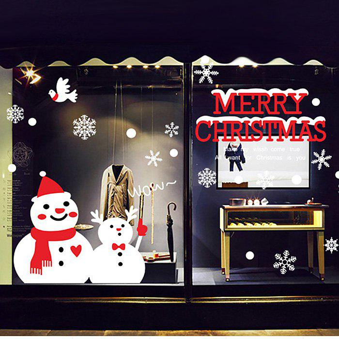Christmas Snowman Glass Window Wall Art Decal family wall quote removable wall stickers home decal art mural