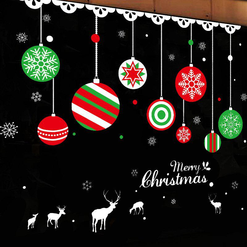 Christmas Balls Pattern Window Wall Art Decal family wall quote removable wall stickers home decal art mural