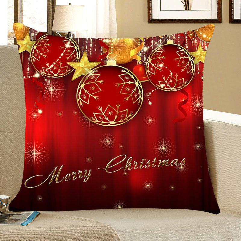 Christmas Baubles and Stars Printed Decorative Pillow Case flamingo and leaf printed pillow case