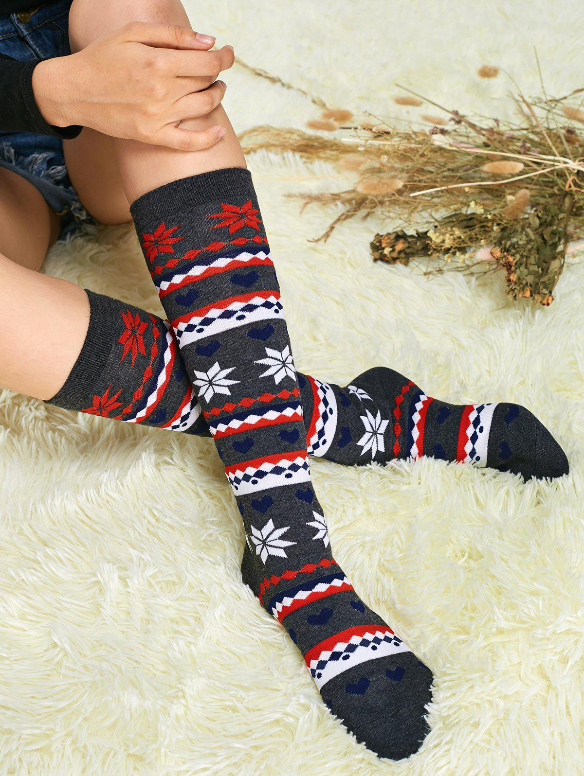 Snowflake Christmas Socks - GRAY