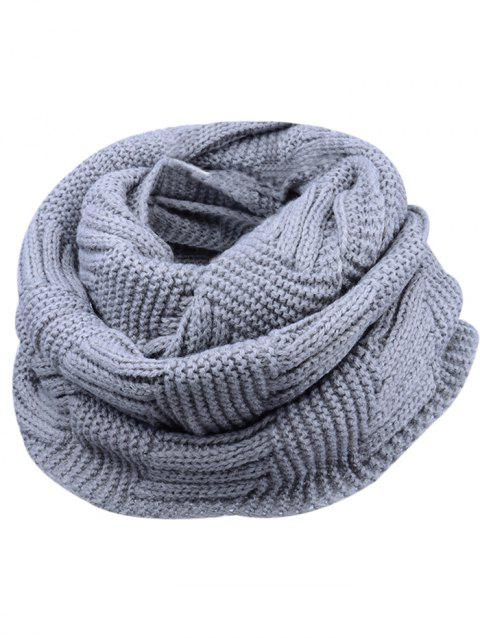 Soft Crochet Knitted Chunky Scarf - GRAY