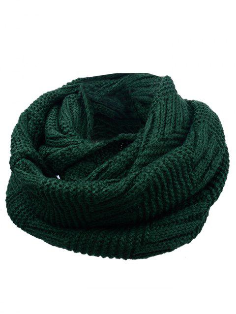 Soft Crochet Knitted Chunky Scarf - GREEN