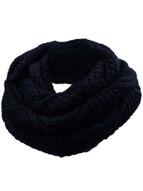 Outdoor Thick Ribbed Knit Winter Scarf - YELLOW/BLACK