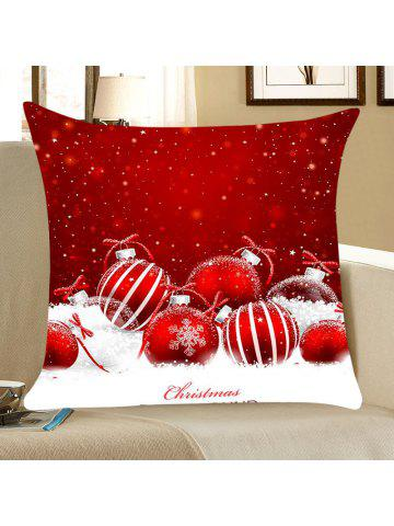 christmas snow balls pattern square throw pillow case