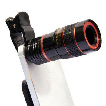 Universal 8X Optical Zoom Clip Mobile Phone Telescope