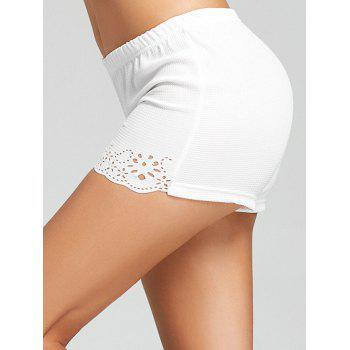 Openwork Boyleg Safety Panties - WHITE WHITE