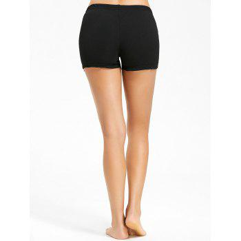 Openwork Boyleg Safety Panties - BLACK BLACK