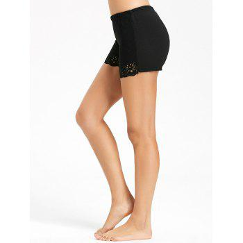Openwork Boyleg Safety Panties - BLACK M