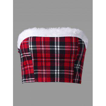 Christmas Plaid Tube Top