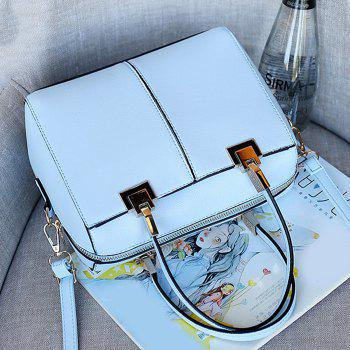 Metal Detailed Crossbody Bag With Handle - WINDSOR BLUE
