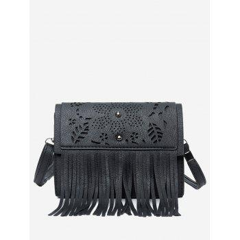 Fringe Hollow Out Rivets Crossbody Bag