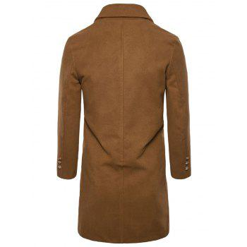 Manteau Simple en Laine à Boutonnage Simple - Camel 2XL
