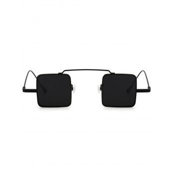 UV Protection Full Frame Squared Sunglasses -  DOUBLE BLACK