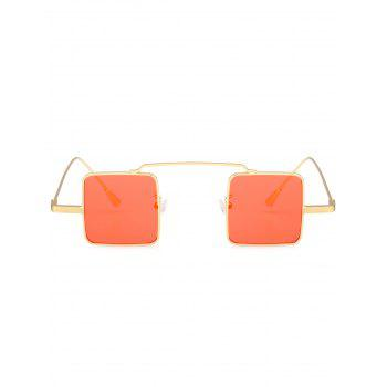 UV Protection Full Frame Squared Sunglasses -  GLOD FRAME / ORANGE LENS